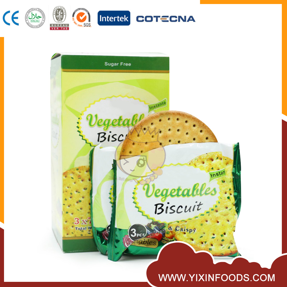 Hot Sell Low Calorie Big Round Vegetable Crispy Biscuit Wholesaler