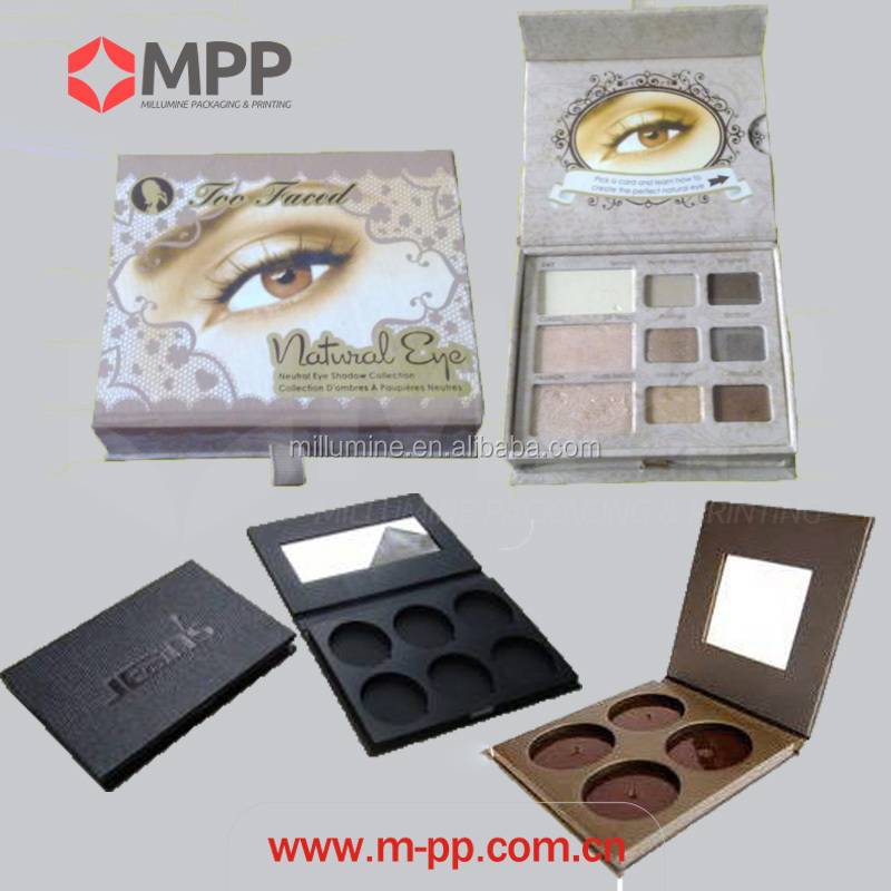 makeup palette handmade paper eye shadow palette box for eyeshadow packing