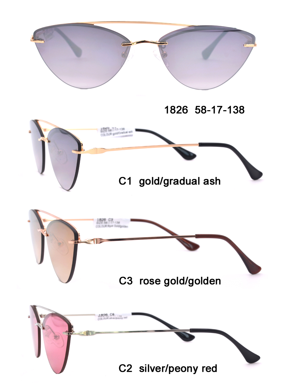 2020 New Design Wholesale High Quality Custom Promotion Fashionable Cat Eye Ladies Sunglasses Metal Sun Glasses In Stock