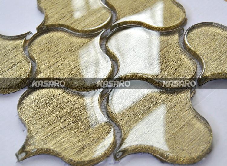 Oro plastica vetro arabesque backsplash piastrelle buy arabesque
