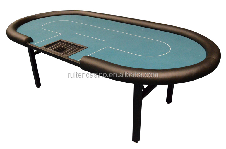 Texas Hold'em Poker Table With Folding Metal Leg