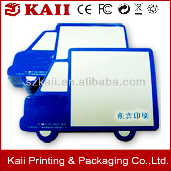 custom promotional car shape note pad supplier in China