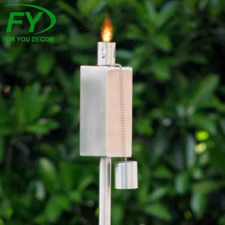 New products 270ml/216ml stainless steel garden torch and oil lamp