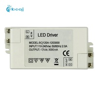 boqi Constant Voltage Led Driver 12v 3A 36w power supply for led mirror light and led tape light CE SAA FCC