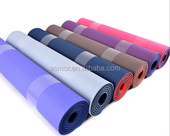 Antislip soft TPE gym yoga mats 6mm
