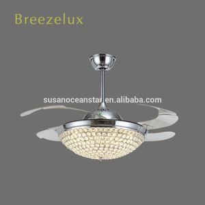 Good quality blade double contemporary 4 blades ceiling fans with light
