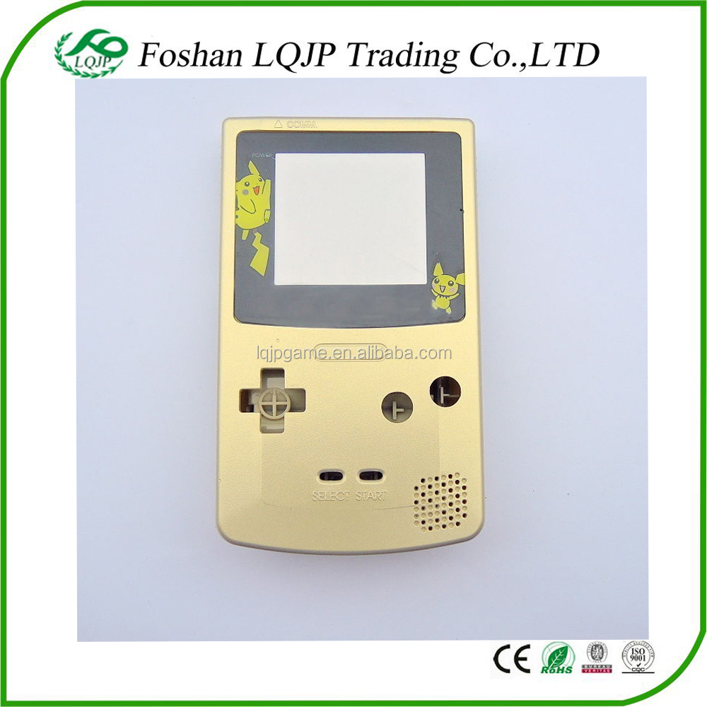 Replacement Housing Shell for GBC for Nintendo Game Boy Color Pokemon Pikachu Gold Case