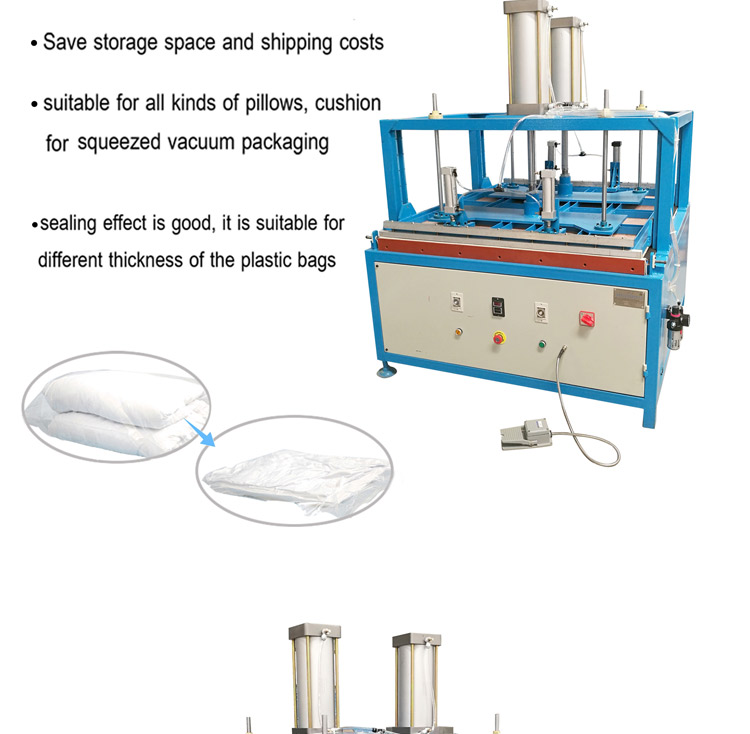 Compressed cushion pillow vacuum packaging machine
