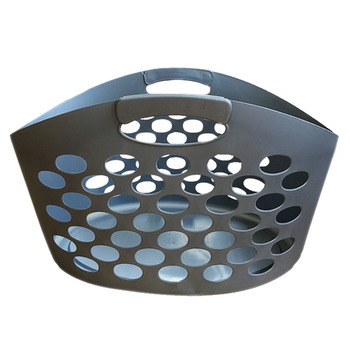 45L new style colored plastic laundry baskets hamper with handle