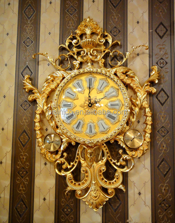 Antique Br With 24k Gold Plated Wall Clock Clic Decorative Hanging