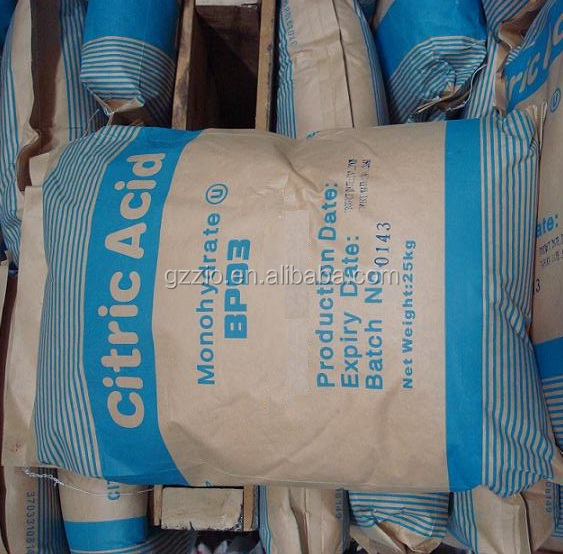 Low price industrial grade citric acid monohydrate anhydrous factory price