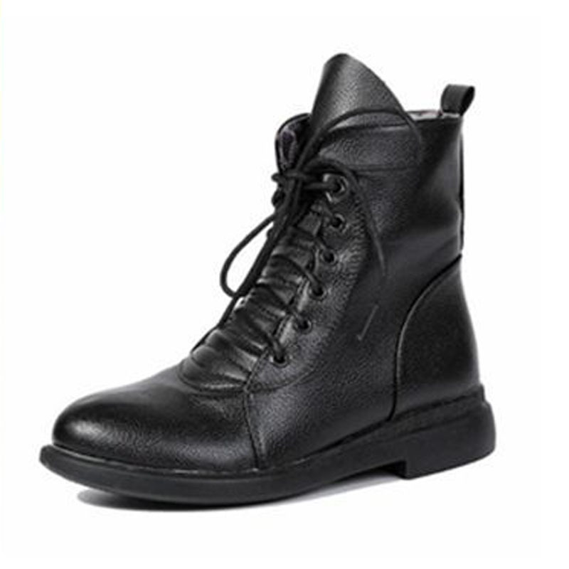 Get Quotations  C2 B7 Bottine Femme 2015 New Rome Style Warm Snow Boots Fashion Combat Boots Woman Solid Lace Up