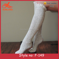 F-149 new fleck knit boot socks with lace