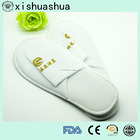 Anti-slip sole Disposable embroider cotton terry hotel Slippers for 5 Star Hotels