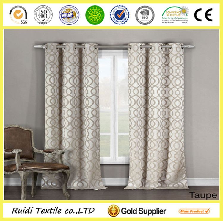 Custom Design Printed Blackout Window Curtain Blackout Curtain Manufacturer