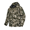Army Outdoor Coat for Men Camouflage Softshell Jacket Hunting Jacket with Hood and Vent Zipper