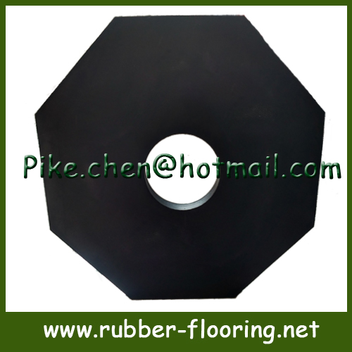 12lb Octagon Rubber Baser for T-post Delineator post