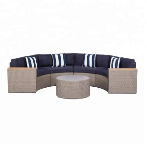 Half Moon Outdoor Curved patio wicker outdoor rattan sofa