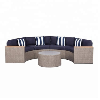 Half Moon Outdoor Curved Patio Wicker Rattan Sofa Product On Alibaba