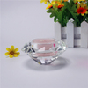 Wholesale nice wedding giveaway gifts crystal diamond shaped tea light holder , tea light candle holder