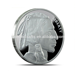 china suppliers arts and crafts brass material silver plating gifts from 1 euro indian presidential coin