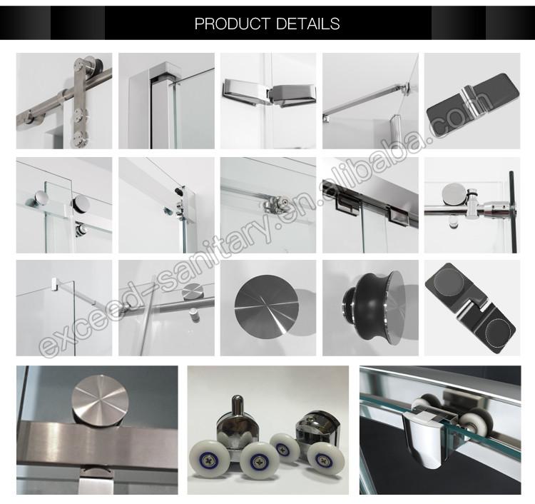 China supplier EX101 glass walk in shower enclosure