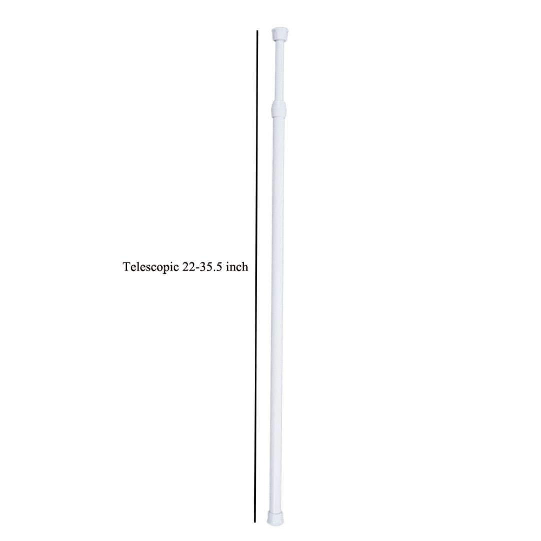 Diy Shower Curtain Rods,Hongxin 1 Pcs Adjustable Retractable Spring Loaded Extendable Telescopic Curtain Hanging Rod For Home Bathroom Door (22-35.5 inch)