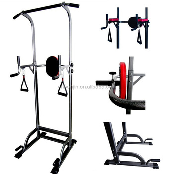 dip chin up station power tower gym fitness equipment. Black Bedroom Furniture Sets. Home Design Ideas