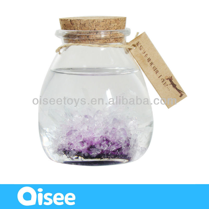 explore science magic galss bottle crystal garden