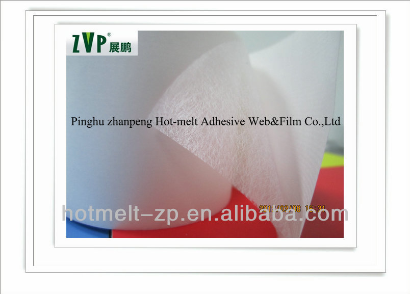 breathable and waterproof PES hot melt adhesive web for cloth interlining