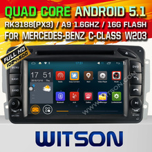 WITSON Android 5.1 car dvd for MERCEDES-BENZ C-CLASS W203 WITH CHIPSET 1080P 8G ROM WIFI 3G INTERNET DVR SUPPORT