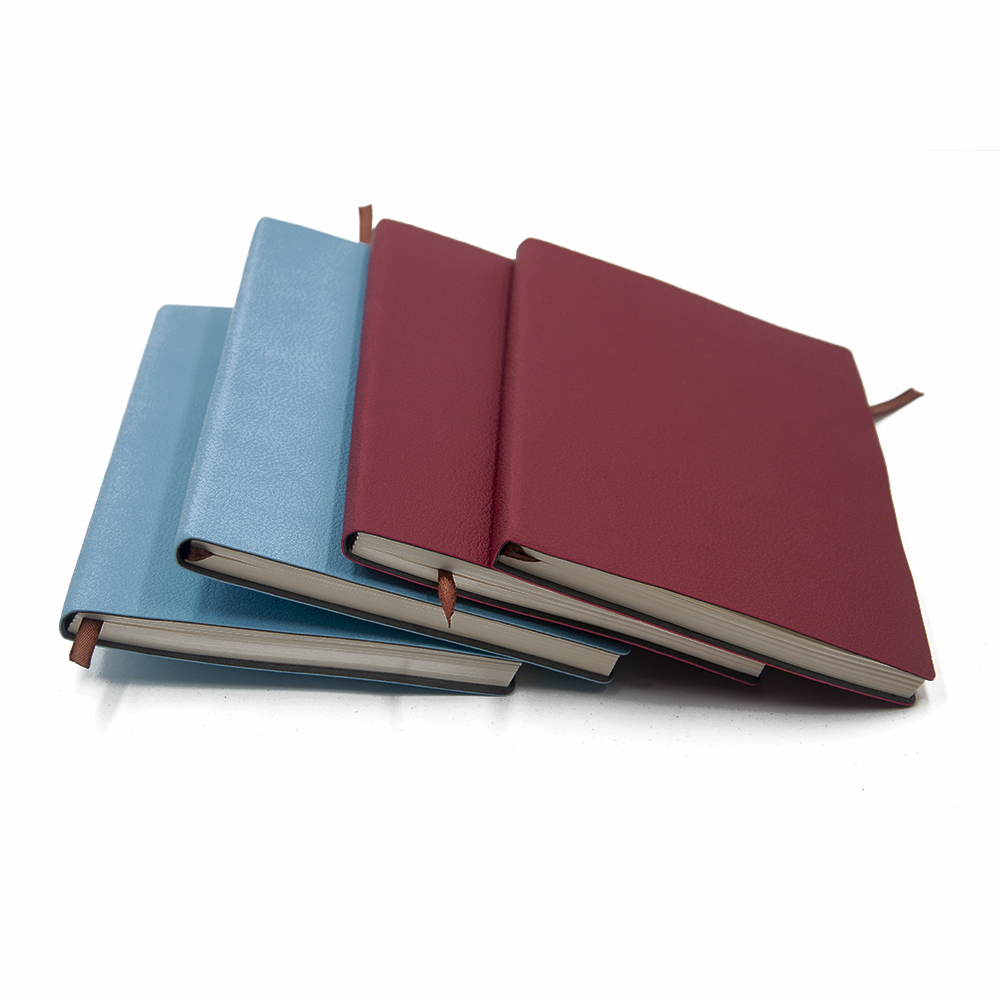 Fast shipping Various PU leather A5  SOFTCOVER NOTEBOOK