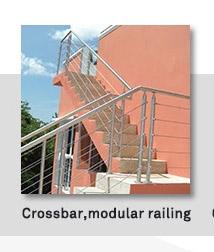 Goedkope duplex huis chrome pijp balkon reling