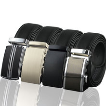 Custom Logo Men Dress Ratchet Leather Belt with Latest New Automatic Buckle