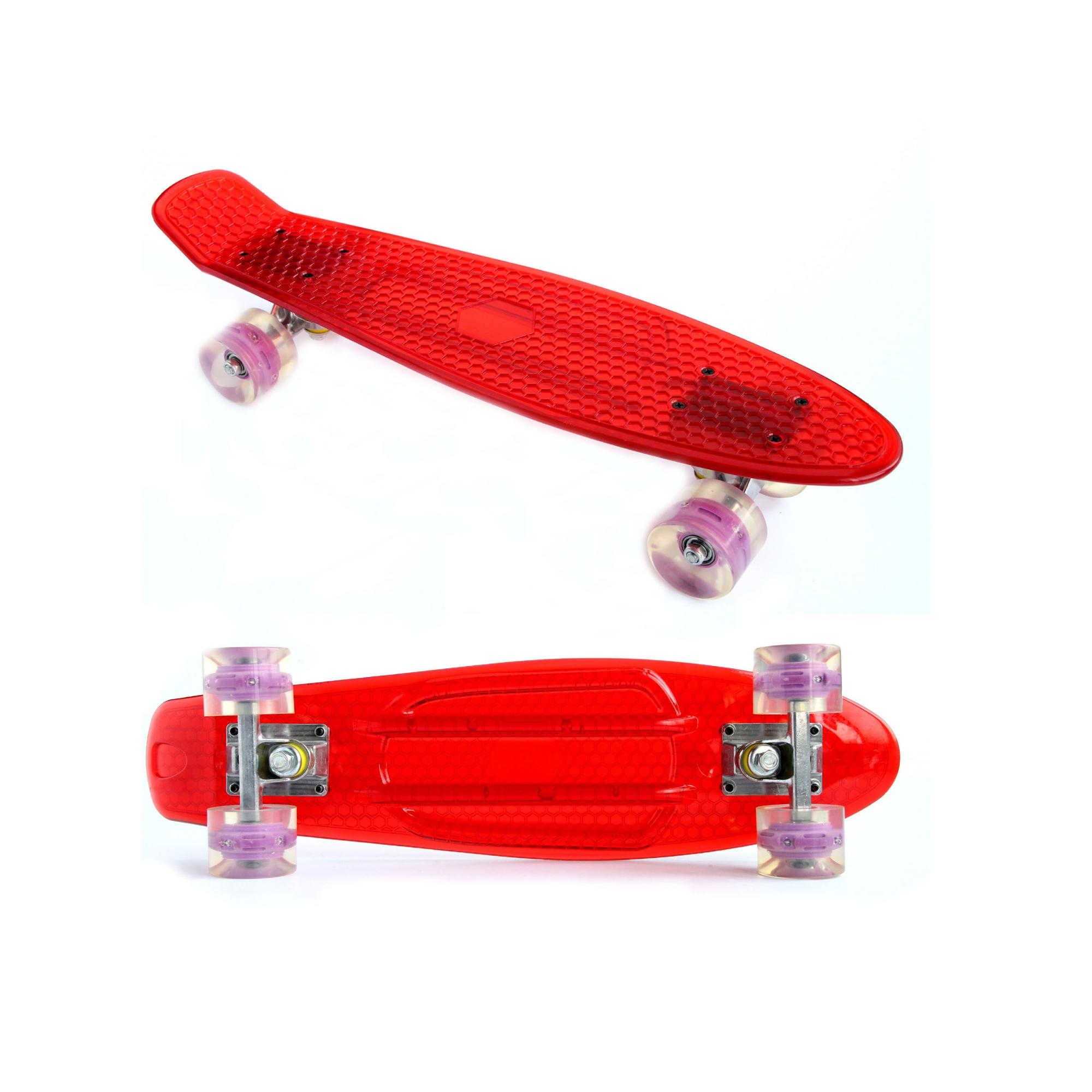 Wholesale plastic cruiser skateboard 22inch transparent cruiser skate board longboard