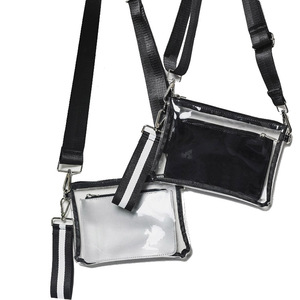 PVC Transparent Small Clear Crossbody Bag Women Wholesale Handbag Clutch Bag Evening Purse