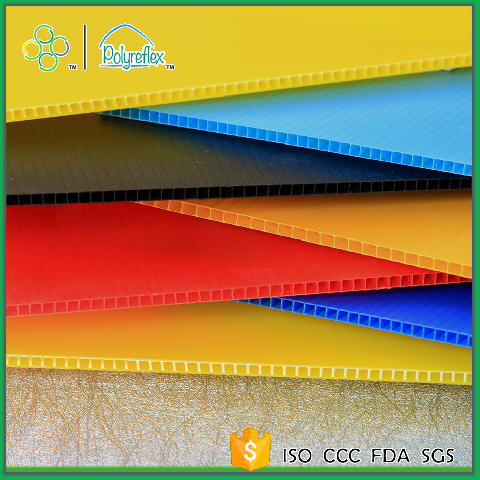 PP Corrugated UV Protection Plastic Sheet