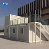 40ft flat pack roof container modular house in indonesia