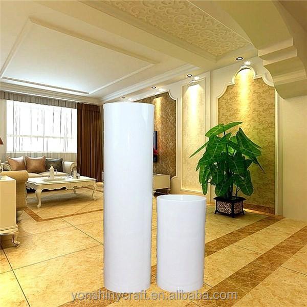 Spezielle design runde innen-dekorierten fußboden weiß blumentöpfe ...