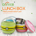 1.2L big eyes minions stainless steel series lunch box vacuum bento box for kids
