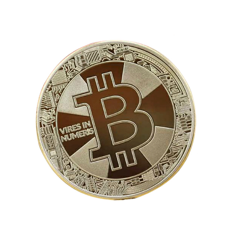 Factory direct wholesale Promotional stamping bitcoin style gold make your own metal coins