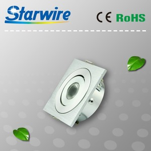 2015 LED square downlight 3W 6W 9W 12W 12v AC/DC cabinet led mini spot light