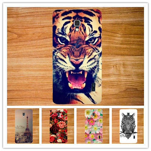Fashion Diy 3d Painting Colored Hard PC Case For LG Optimus F6 D500 D505 Case Phone Cover Luxury Sheer Bags Free Shipping
