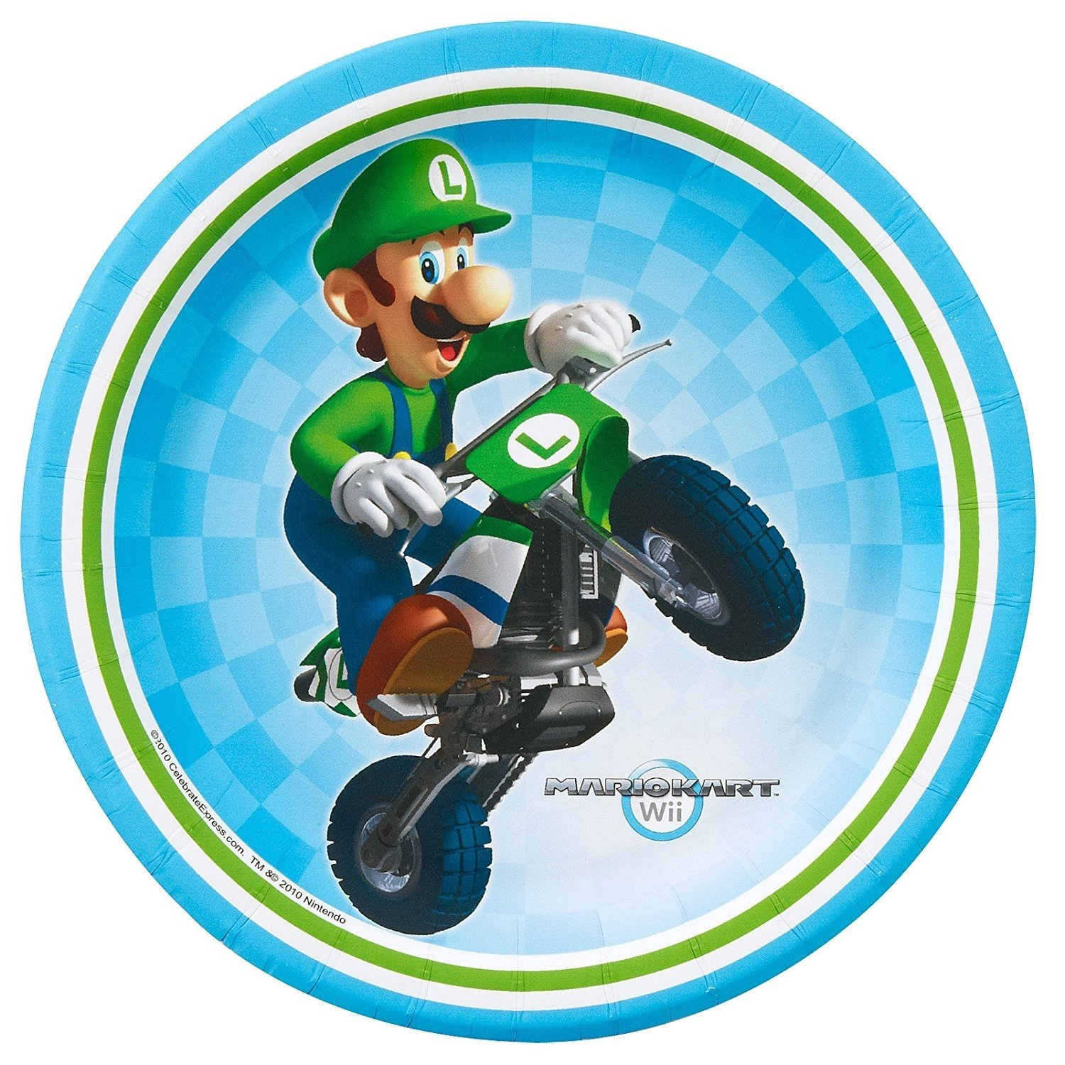 Super Mario Brothers 'Mario Kart Wii' Small Paper Plates (8ct)