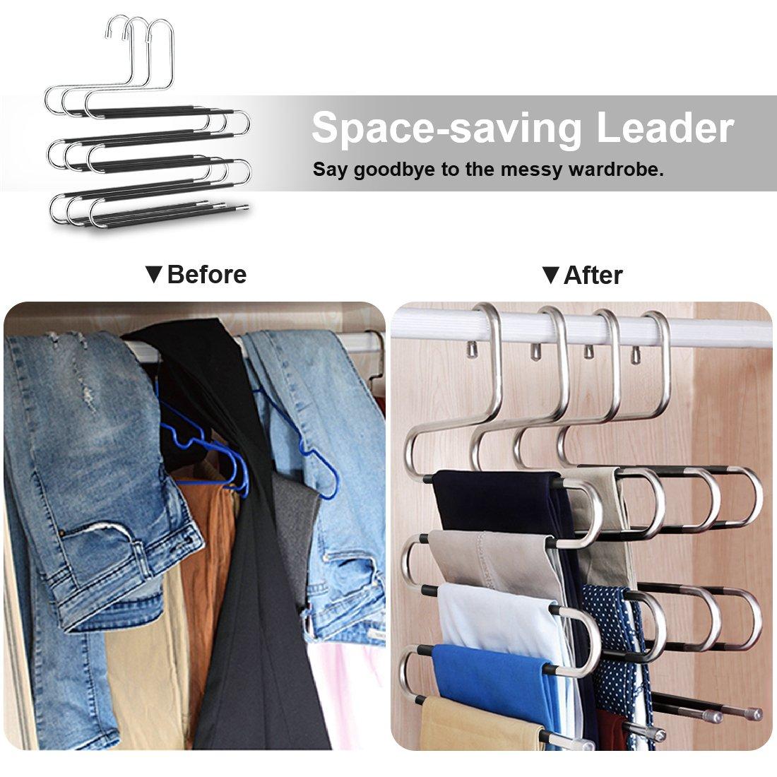 S Vorm Hanger 5 Lagen S Hangers Closet Magic Space Saver