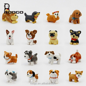 Roogo christmas costumes mini dog sculpture toys home decoration for baby souvenir gifts