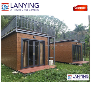 20ft modern luxury shipping container with folding portable movable house