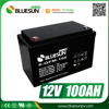 Bluesun 12v 100ah storage battery lead acid cells with CE ROHS certificate