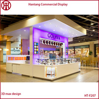 Cheap Price Shopping Mall Indoor Food Vending Kiosk Coffee Ice Cream Yogurt Kiosk