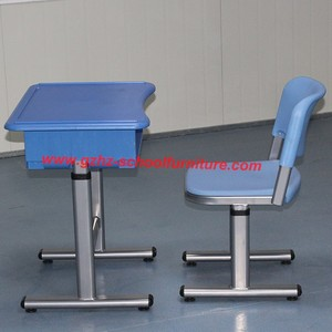high school connective school plastic students table and chairs